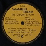 Tangerine Dream - The Canyon Dreams